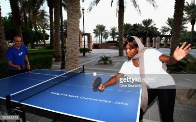 Serena Williams Takes on Matthew Syed at Table Tennis
